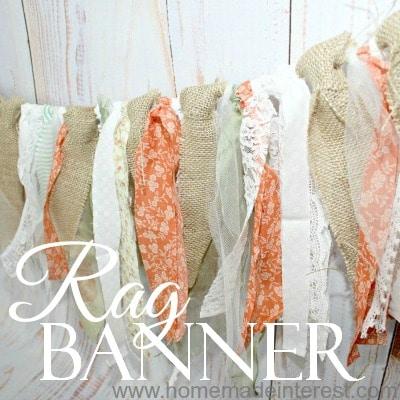 Rustic Rag Banner {www.homemadeinterest.com}