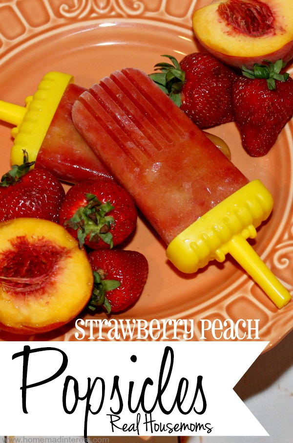 Strawberry Peach Popsicles {Home. Made. Interest. for Real Housemoms}