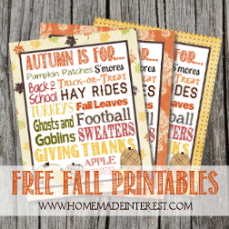 Decorate your mantle for fall with one of these free fall printables.