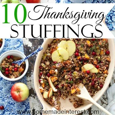 10 Thanksgiving Stuffings | Home. Made. Interest. #dressing #sidedish #stuffing