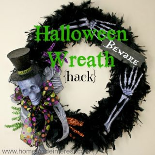 I love Halloween decorations and this simple tutorial on making your own Halloween wreath will saved me so much money!