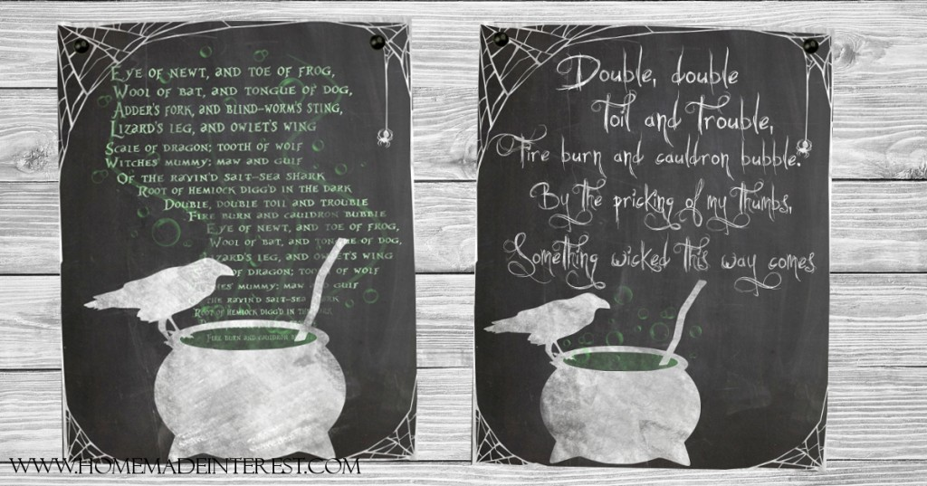 Double The Trouble Quotes: Something Wicked Halloween Printables