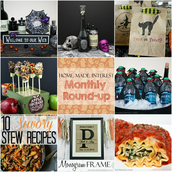 A collection of projects and recipes from October on Home. Made. Interest.