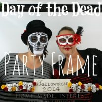 Our Day of the Dead Party Frame is the perfect prop for your Halloween Party photos! @plaidcrafts #plaidcrafts #modpodge #decoden #whippedclay