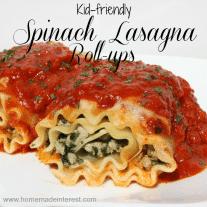 Spinach Lasagna Roll-ups #ILikeVeggies #CleverGirls