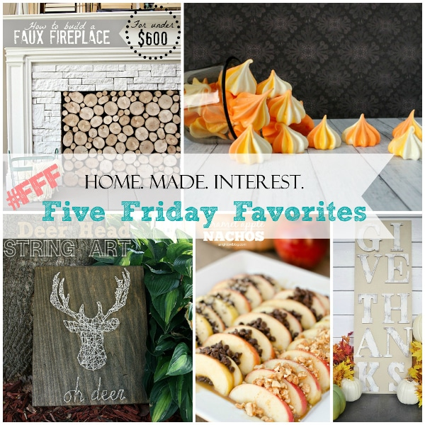 Five Friday Favorites from Home. Made. Interest. {www.homemadeinterest.com}