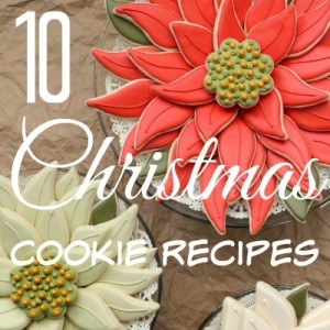 Who doesn't love Christmas cookies? Especially beautifully decorated cookies! These are 10 of our favorite Christmas cookies to make for the holidays. Decorate the cookies with your kids and get into the spirit of Christmas. Perfect for gift baskets, teacher gifts or for the family to enjoy.
