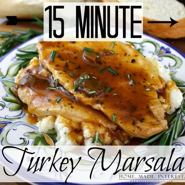 This turkey marsala can be made in 15 minutes using turkey leftovers from the holidays and Campbell's® Skillet Sauces. The recipe is quick and easy, perfect for a busy weeknight when you have to get the kids to practice but you want to feed them a home cooked meal.