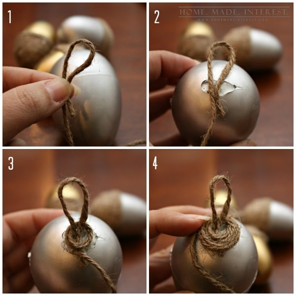 Advent calendars are a fun way for kids to countdown to Christmas. This easy diy craft tutorial show you how to make acorns that hang on your tree. Each night the kids can open one up and see what special treat or activity they get. It's fun for the whole family!