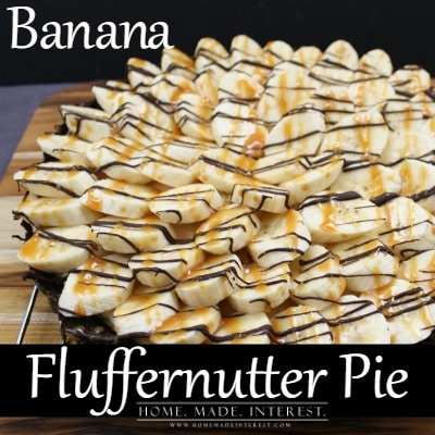 This Banana Fluffernutter pie recipe combines three of my favorite things, bananas, peanut butter, and marshmallow fluff, all in a chocolate graham cracker crust. It is a recipe that both kids and adults will love. Simple to make, you only have to bake the crust, and a beautiful presentation with chocolate and caramel drizzle, it is the perfect dessert for any time of year.