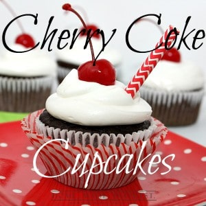 This Cherry Coke Cupcake recipe is so easy to make. All you need is a box of cake mix and a can of coke! Add a little cherry juice and you have cherry coke cupcakes. Put them in a jar and you have a fun homemade gift for friends or family.