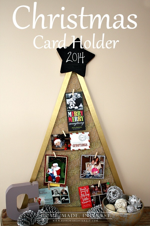 diy christmas card holder home made interest