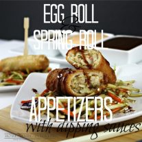 I love doing an Asian restaurant-inspired theme for parties. Egg rolls and Spring rolls are two of my favorite things and I don't have to make them because Tai Pei Foods does it for me. I have a few simple Asian dipping sauce recipes that I make and I get to focus on serving pretty party food.