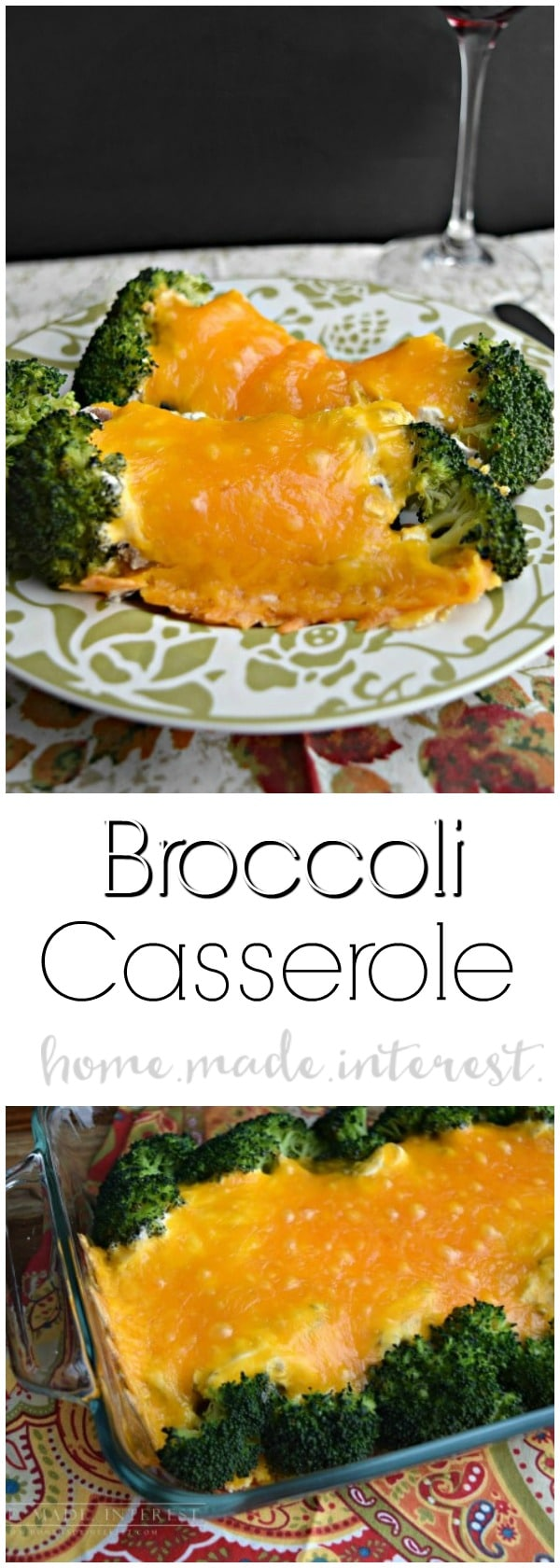 Broccoli casserole is an easy casserole recipe that is the perfect side dish for a weeknight dinner or a holiday meal. I love to have it on Easter, Thanksgiving or Christmas (sometimes both!). With broccoli, mushrooms, sour cream, and cheddar cheese, it is creamy and delicious side dish recipe that even the kids will love.