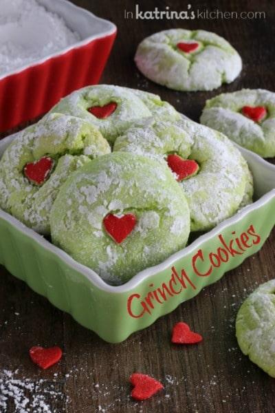 http://www.inkatrinaskitchen.com/2013/12/grinch-cookies.html
