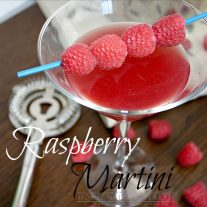 Our raspberry martini is a fun drink recipe that can be served with or without alcohol so both kids and adults can enjoy it. Perfect for holiday entertaining!