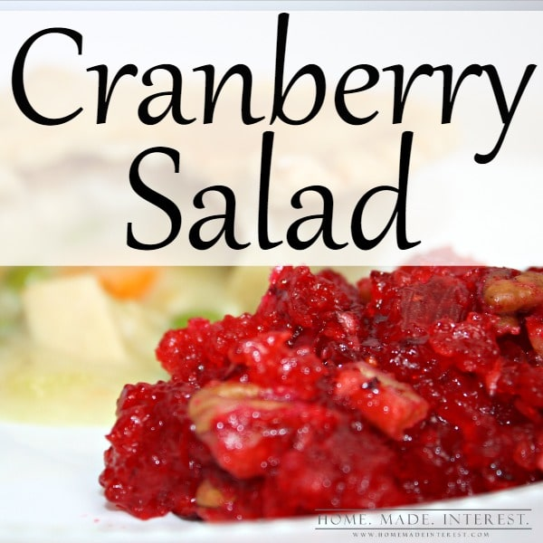 Turkey pot pie is quick and hearty meal to make during the winter months and this cranberry jello salad recipe is an easy side dish to serve with it. It can be made ahead of time and kept in the fridge until you are ready to serve it.
