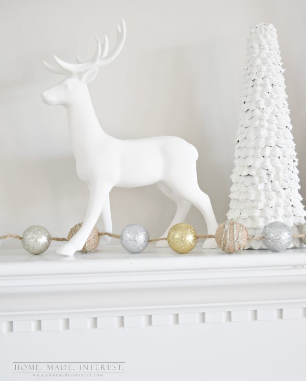 i love decorating my home for the holidays a big christmas tree and a beautiful - White Deer Christmas Decoration