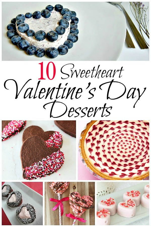 10 heart-shaped Valentine's Day Desserts to help you pick a recipe to show your sweetie how much you love them.
