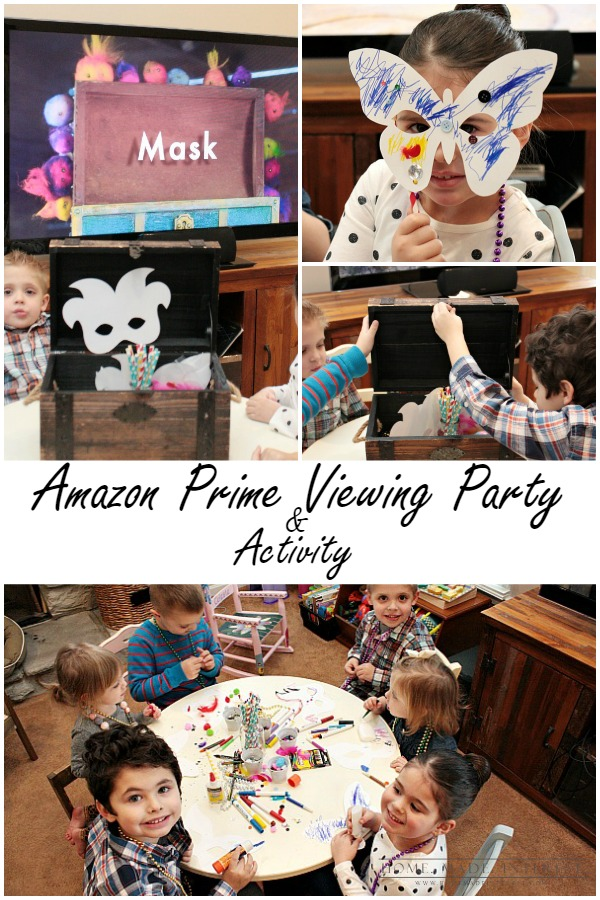 Host an Amazon Prime Viewing party with Amazon Originals Kids shows: Tumble Leaf, Creative Galaxy, and Annedroids and plan a fun craft to do along with the shows. Free printable included!