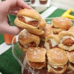 Make-ahead Buffalo chicken sliders are the perfect food for feeding a hungry crowd at your next football party or tailgating event!