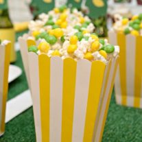 Pop some popcorn and toss it with chocolate and Skittles and you have a sweet and salty treat the whole family will love. You can make it for movie night, the big game or just an easy snack recipe for the kids.