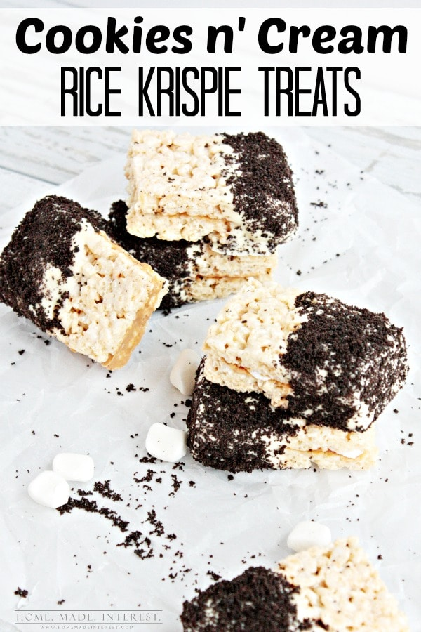This cookies and cream rice krispies treat recipe is delicious and easy to make. A great snack for moms who just want an afternoon treat.