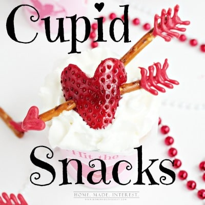 Easy Valentine's Day snacks for kids. These cupid arrow treats are perfect for classroom party's.
