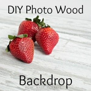 A quick tutorial on how to make a distressed wood backdrop for photos. We show you how to make your own wood photo backgrounds for blog projects and food photos in a few simple steps!