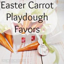 These Easter favors are made with homemade playdough! It's an easy craft to do with your kids and it is a fun non-edible Easter treat for their Easter basket.