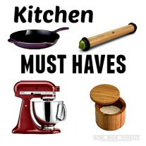 Make cooking in your kitchen enjoyable with these must have kitchen items. You will love to cook before you know it!