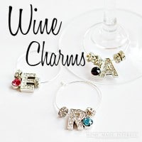 These diy wine charms are a great way to add a little bling to a birthday party or girls' night.