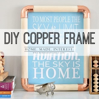 This easy DIY Copper frame is made with copper fitting and wood dowels. This copper project only takes 10 minutes!