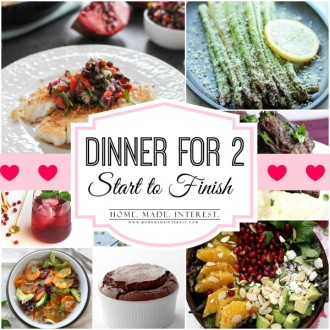 We have two Valentine's Day meal plans with everything from drink recipes to dessert recipes so you can have a romantic dinner with your sweetheart.