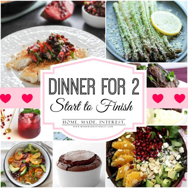 Dinner for Two Meal Plan, Start to Finish - Home. Made. Interest.