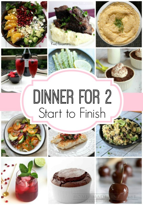 Dinner for two meal plan start to finish home made interest we have two valentines day meal plans with everything from drink recipes to dessert recipes so forumfinder Gallery