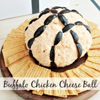 This buffalo chicken cheese ball is spicy buffalo chicken mixed with cream cheese makes a delicious party time snack.