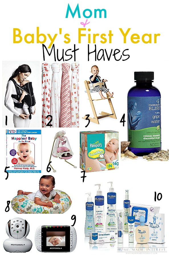 Becoming a parent is scary enough, but with these helpful  First Year Must Haves for Mom & Baby it will helping adjusting easier.
