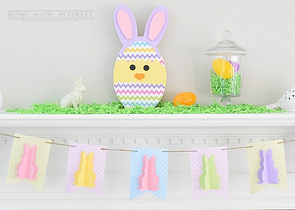 Simple easter bunny banner home made interest Home decor pinterest boards to follow