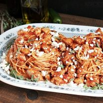 This spicy chicken pasta recipe is simple to make for an easy weeknight dinner or a fancy dinner party.