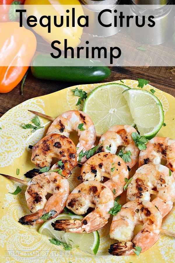 A delicious Mexican inspired recipe of grilled shrimp that has been marinated in a tequila orange marinade. Great for Cinco de Mayo!