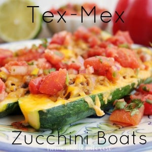 These zucchini boats are a quick and easy dinner recipe. Zucchini stuffed with ground beef and covered with cheddar cheese and homemade 10 minute salsa. Great summer recipe!