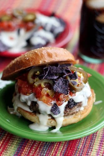 Mouth watering all beef burgers for for grilling this summer. Burger loaded with delicious goodness.