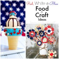 Celebrate with red, white and blue foods and crafts this July 4th, Memorial Day, or Labor Day. Festive treats & crafts for everyone to enjoy including the kids.