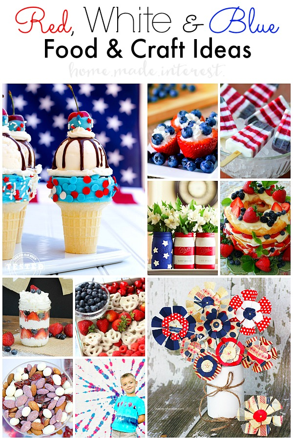 red white and blue craft ideas white and blue food amp crafts home made interest 7890