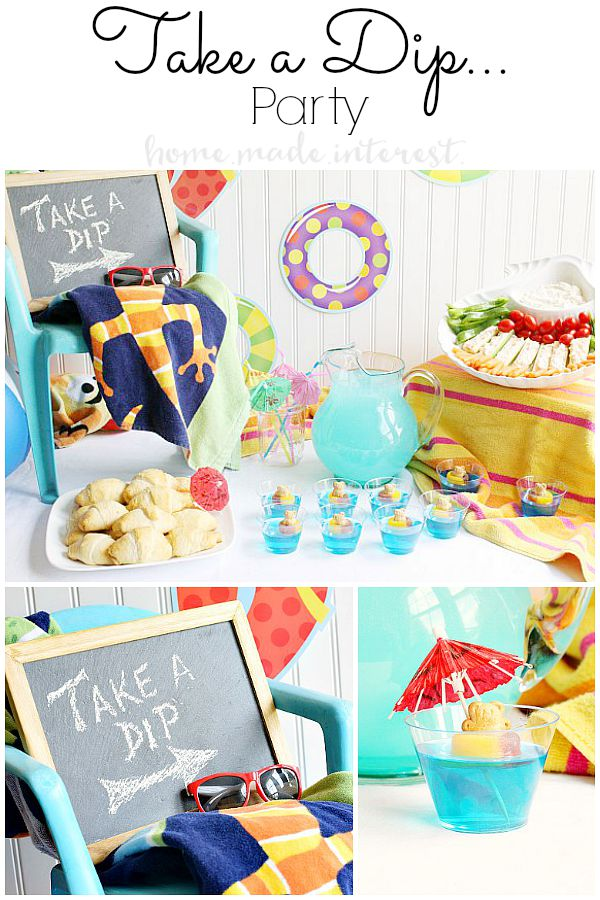 This end of summer, back to school, pool party is a fun way to say goodbye to Summer and hello Fall! We've got all sorts of pool party food ideas and decoration ideas.