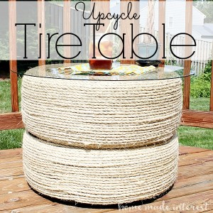 Upcycle Tires Into A Table Home Made Interest