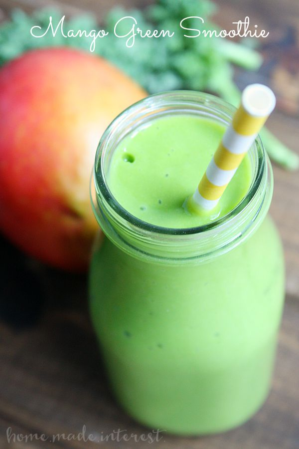 This green mango smoothie is so good your kids won't even know they are eating their vegetables!