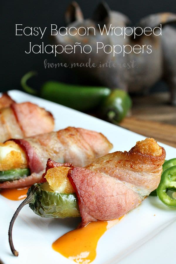 This snack hack makes bacon wrapped jalapeño poppers even easier! This is a great recipe for game day or just a fun party appetizer.