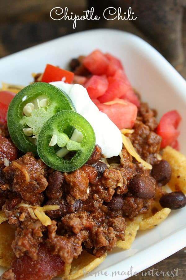 This chili has a rich smokey flavor and subtle, slow, heat. Made with black beans and chipotle in adobo, you'll love this unique chili recipe!